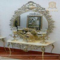 آینه کنسول برنزی بیضی کد ۳۴۲