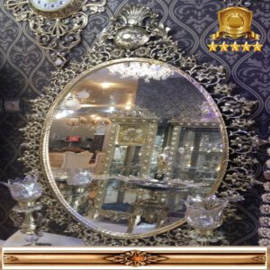 آینه کنسول برنزی بیضی کد۱۱۷