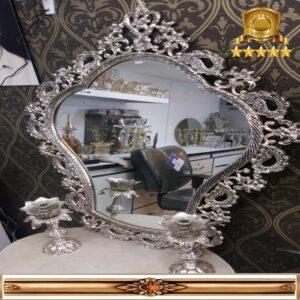 آینه کنسول محرابی نقره ای کوچک