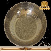 بشقاب برنجی هندی کد ۱۶۱
