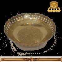 بشقاب گود برنجی هندی کد ۳۴۶