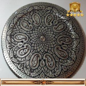 بشقاب مسی قلم زنی کار دست اصفهان کد ۳۰۵