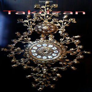 ساعت دیواری مدل گل رز کشیده