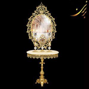 ست میز و آینه با ساعت و شمعدان کد ۵۷