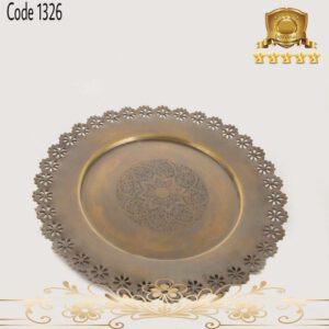 سینی برنجی هندی آنتیک ۱۳۲۶