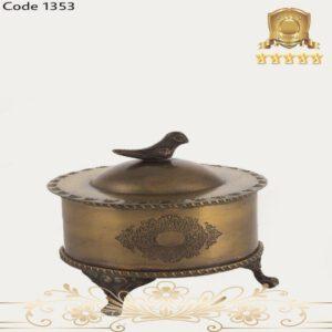 شکلات خوری برنجی آنتیک ۱۳۵۳