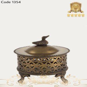 شکلات خوری برنجی آنتیک ۱۳۵۴