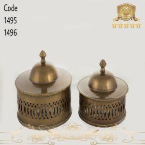 شکلات خوری برنجی درب دار ۱۴۹۵