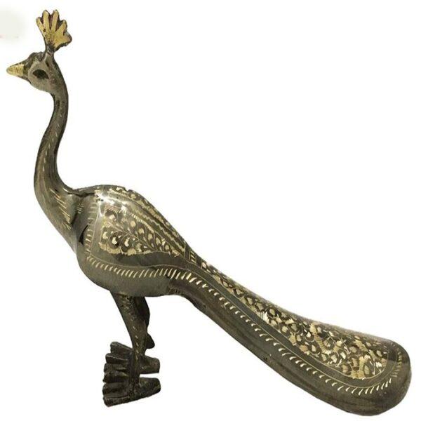 مجسمه برنزی جام هنر مدل طاووس کد ۸