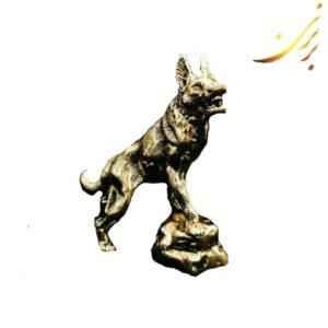 مجسمه گرگ برنزی