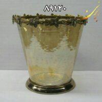 گلدان برنج و شیشه هندی ۸۹۱۲۰