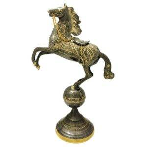 مجسمه برنزی جام هنر مدل اسب کره دار کد ۱۴