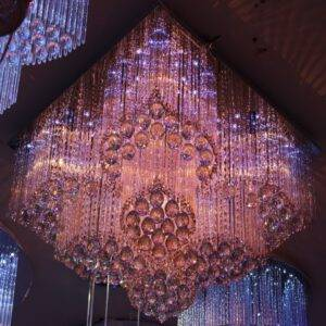 لوستر سقفی LED کد ۱۲۷ سایز ۶۰