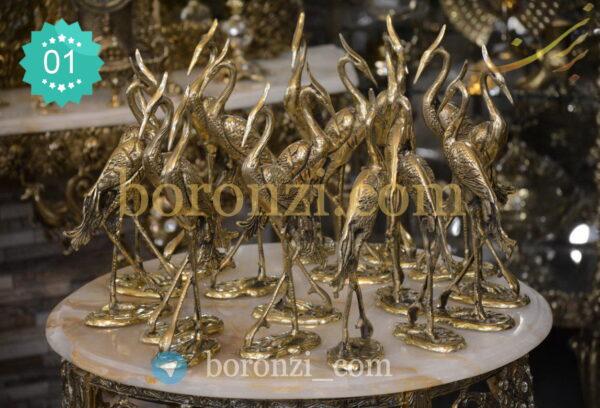 مجسمه فلامینگو برنزی