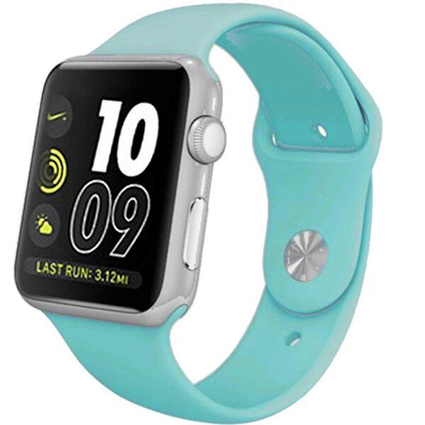 ساعت هوشمند آی واون مدل IWO- S به همراه محافظ صفحه نمایش شیدتگ و دو بند اضافه اپل واچ جذاب