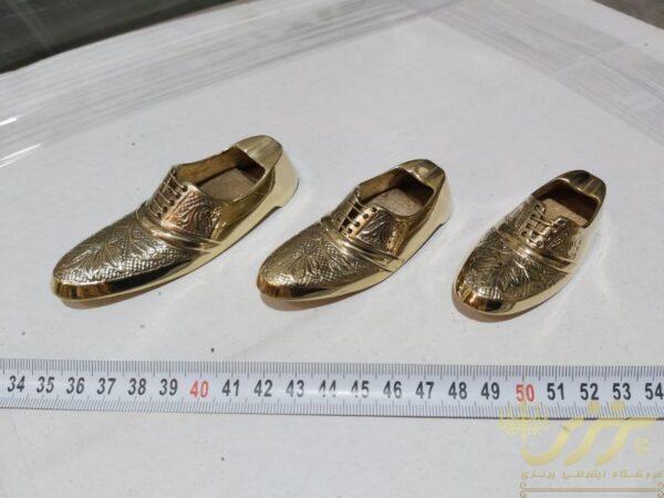 زیر سیگاری برنجی طرح کفش سه تایی