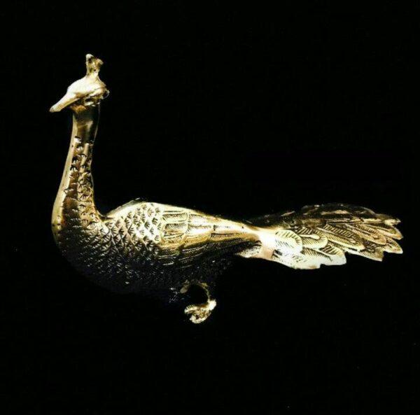 مجسمه برنزی طاووس رو به رو