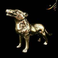 مجسمه برنزی گرگ کوچک