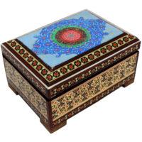 جعبه جواهرات خاتم کاری گالری دست نگار کد 07-23