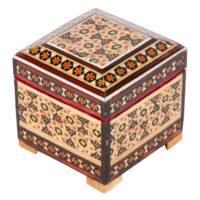 جعبه جواهرات خاتم کاری گالری گوهران مدل لعل کد 1359