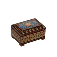جعبه جواهرات خاتم کاری گالری گوهران مدل 1488
