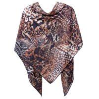 روسری توییل دست دوز مدل پوست ماری روژند