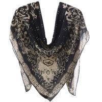 روسری حریر کلاسیک روژند کد 111