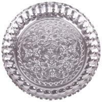سینی مسی سنونی مدل 00-35 طرح کنگرهدار قطر 28 سانتیمتر