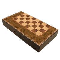 صفحه شطرنج و تخته نرد گالری نفیس طرح چوب طول 50 سانتیمتر