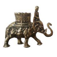 مجسمه برنجی حُسن یوسف مدل فیل گلدانی
