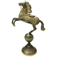 مجسمه برنزی جام هنر مدل اسب کره دار کد 14