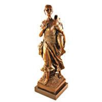 مجسمه برنزی زن ماهیگیر کد 0004