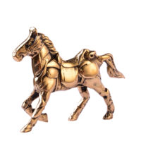 مجسمه برنزی مدل اسب زره پوش آب طلاکاری