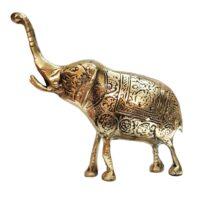 مجسمه فيل برنجي مدل 1029
