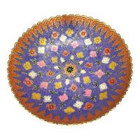 کاسه برنجی میوه خوری جام هنر مدل ظروف مینا کد گلریز 95