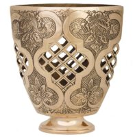 گلدان برنجی قاب مشبک دکوکالا مدل 185017