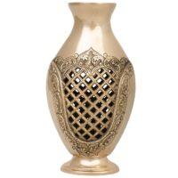 گلدان برنجی مشبک دکوکالا کد 185002