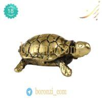 مجسمه برنزی لاکپشت کوچک
