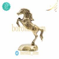 اسب برنزی پایه دار کوچک