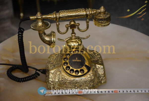 تلفن برنزی گرد طرح زیمنس قدیمی گردون