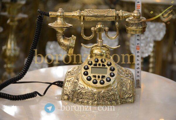 تلفن برنزی گرد آیدی کالر دار