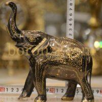 فیل برنزی سیاه قلم 18 سانت