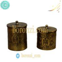 باکس چای و شکر برنجی هندی کد ۱۳۳۶