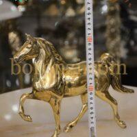 مجسمه اسب کالسکه بزرگ برنزی
