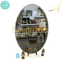 آینه عروس طلایی تک ردیفه 50*70