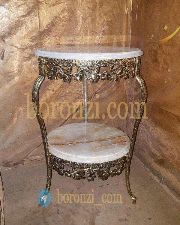 میز تلفن برنزی شیپوری