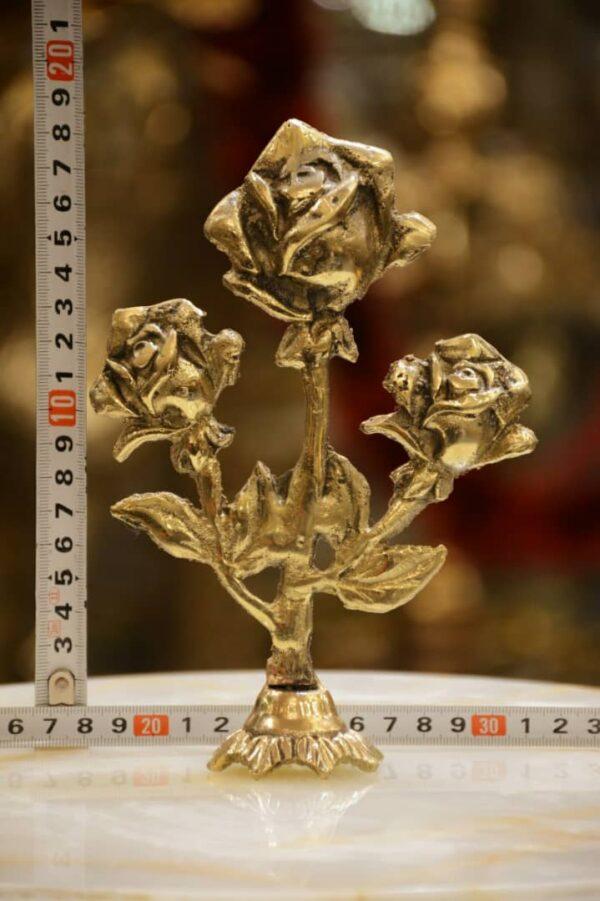 گل رز رومیزی سه شاخه
