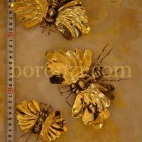 دیوار کوب برنجی زنبور تک بال