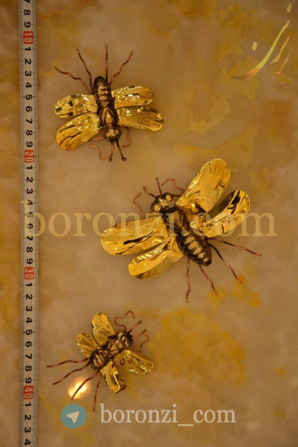 دیوار کوب برنجی زنبور دوبال