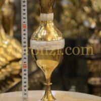 گلدان برنجی هندی صدفکاری